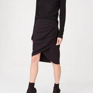 NWT Club Monaco Shobana Skirt 2 Black Jupe Stretch